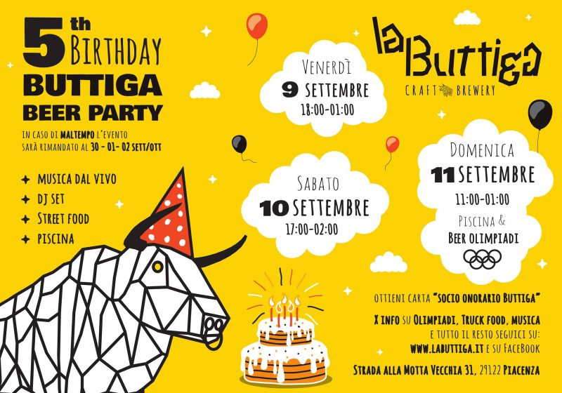 5anni buttiga beer party