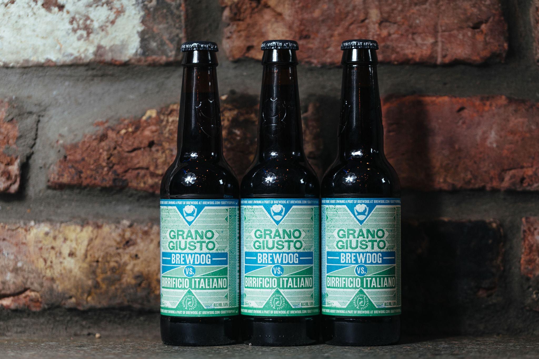 Birra artigianale granogiusto. Birrificio Italiano e Brewdog
